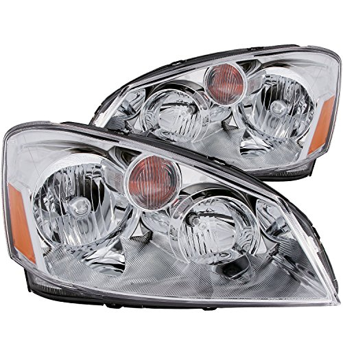 AnzoUSA 121294 Crystal Clear/Amber Headlight for Nissan Altima - (Sold in Pairs) (Nissan Computer Altima)