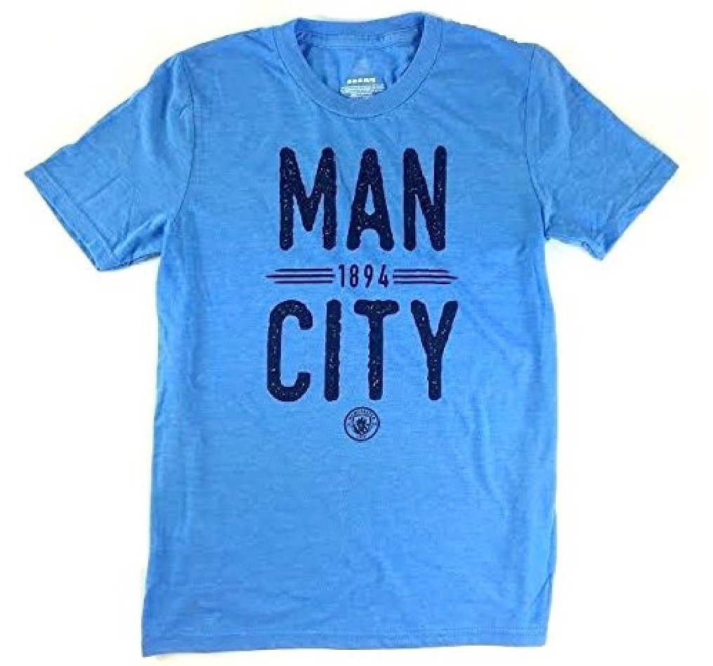 マンチェスターシティFCユースBoys Always Remember TriblendヘザーブルーTシャツ B06XCJ6WFT Large