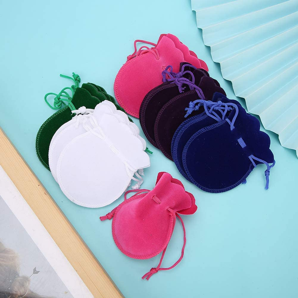 Velvet Pouch 20pcs Jewellery Organizer Gift Bag Office for Home Romantic Valentines Day Wedding Party Jewellery Pouch Bag Gourd Drawstring Pouch