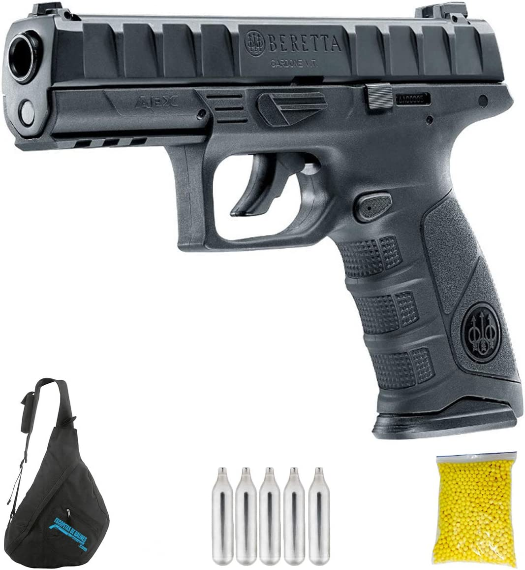 UMAREX BERETTA APX M12 | Pack Pistola de balines (perdigones o Bolas de Acero BB's). Arma de Aire comprimido. CO2. Calibre 6 mm. 1.4 Julios.