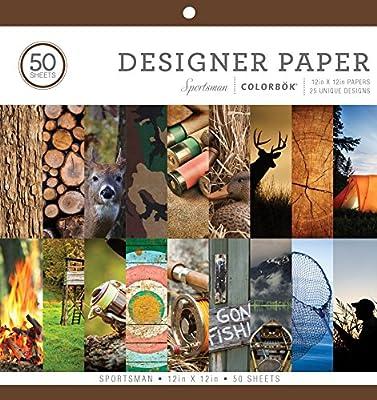 "ColorBok 73485A Designer Paper Pad Sportsman, 12"" x 12"""