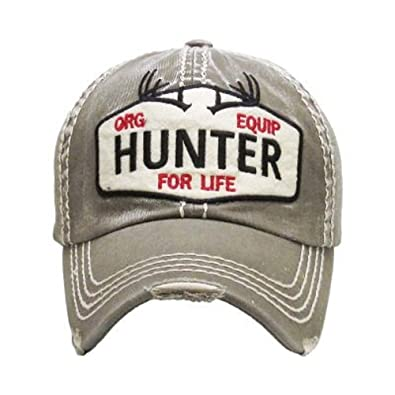 Amazon.com  Hunter for Life Olive Green Washed Cotton Vintage ... 4d970a2c44a