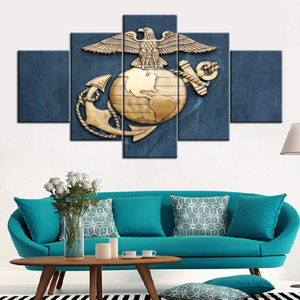 TUMOVO Native American Max 44% OFF Wall Art Same day shipping Navy Pai 5 Pictures Panel Canvas
