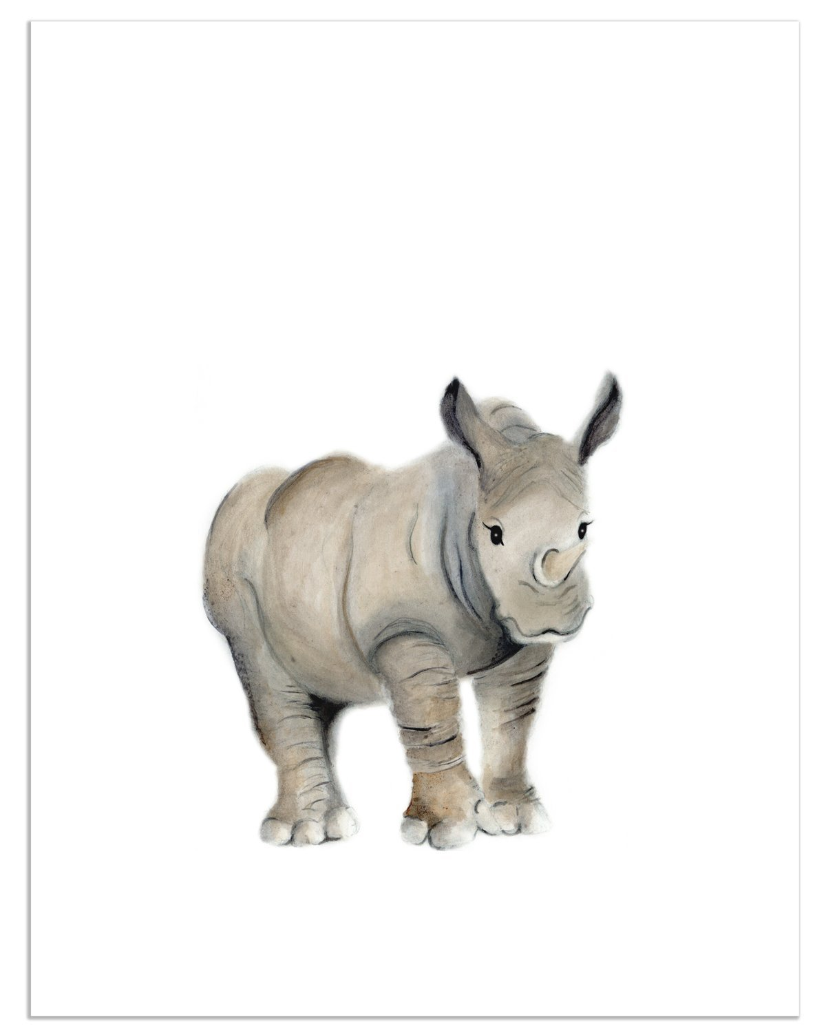 amazon com rhino nursery print safari animal nursery decor baby