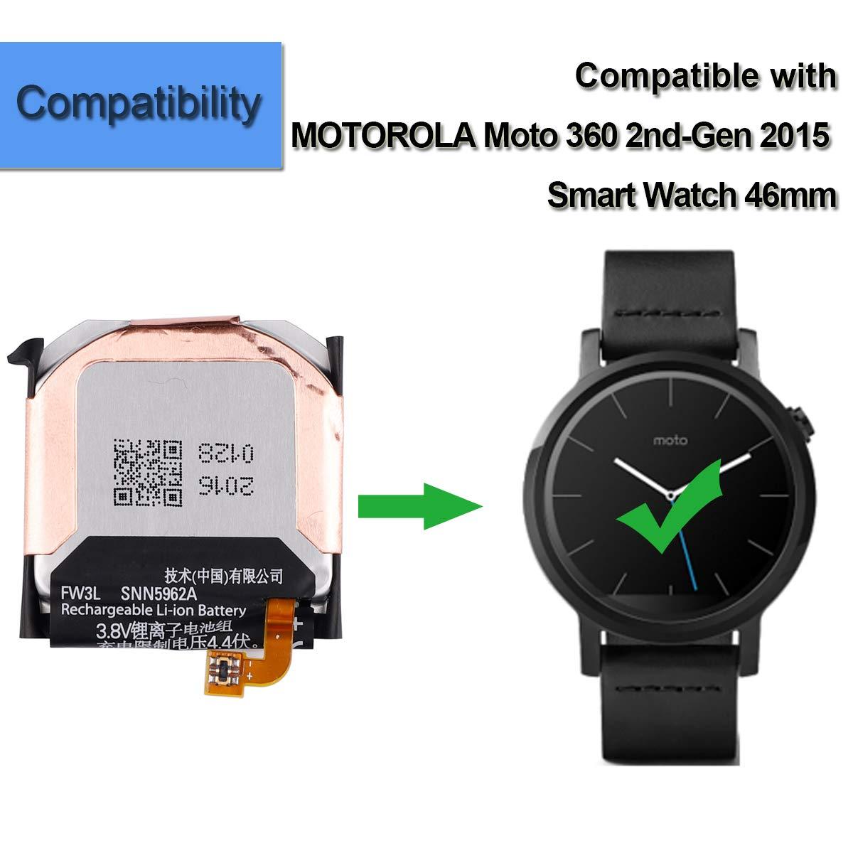 Amazon.com: Batería de repuesto FW3L compatible con Moto 360 ...