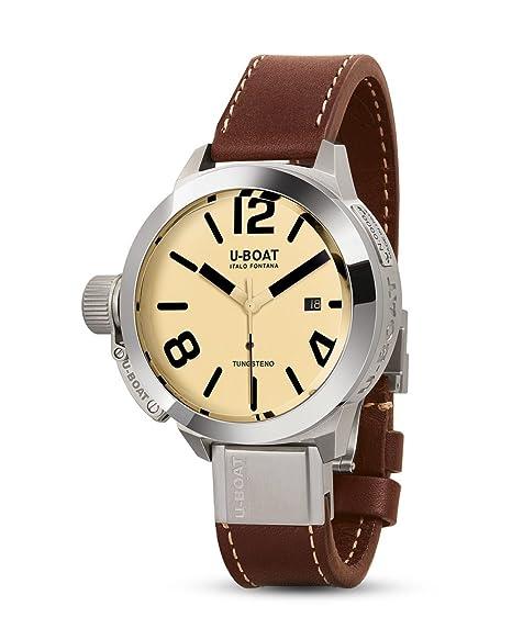 Reloj Automático U-Boat Classico, Acero Inoxidable 316L, Negro, 50mm, 8092