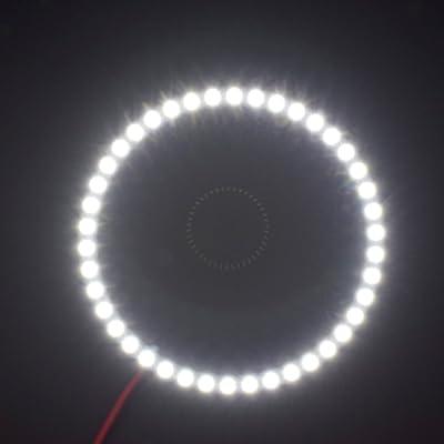 2PCS x Car Led Headlight 60mm 3528 18-SMD Angel Eyes Halo Ring Light (White): Automotive