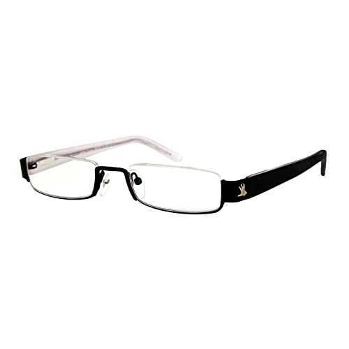 I NEED YOU Reading Glasses Eyewear Black Half Rimmed Rectangular Frame Eyeglasses For Women With Antireflective High-Quality Plastic Lenses - Anna Style - Prescription Eyewear With Power +2.5