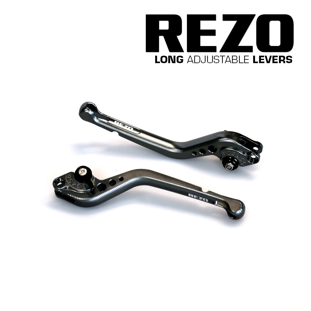 Rezo rez-setv2 –  1-tit-0006 V2 largo ajustable CNC motocicleta palancas para Aprilia y Moto Guzzi modelos, titanio China REZ-SETV2-1-TIT-0006