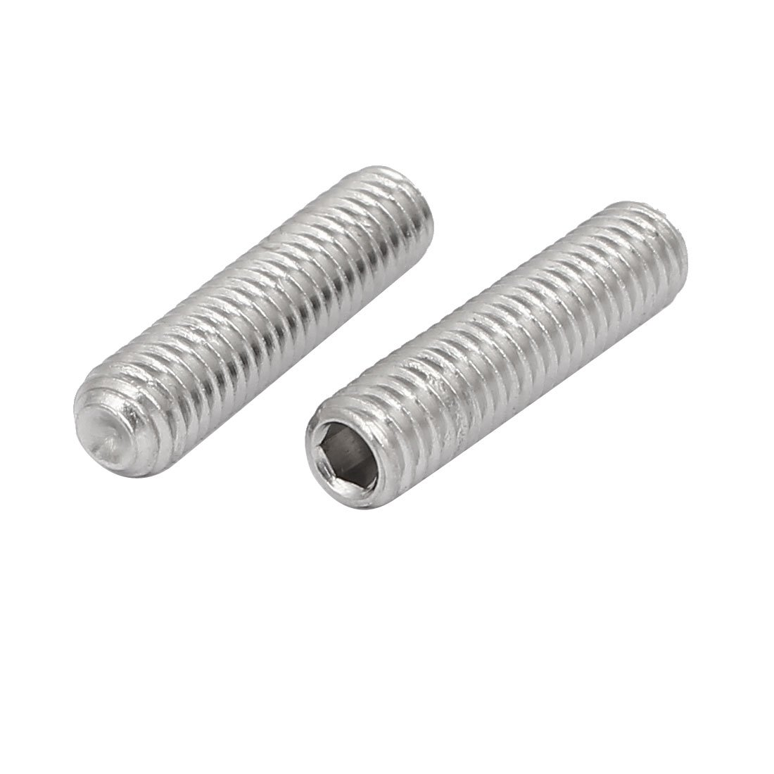 uxcell M6x25mm 316 Stainless Steel Hex Socket Cup Point Grub Set Screws 10pcs a16112800ux0453