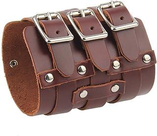 MagiDeal Protections Poignet Large Bracelet en Cuir PU Accessoires de Mode Unisexe
