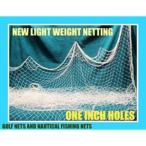 150 X 8 Fishing Net Netting Nautical Display Wedding Decor Garden Pond Birds