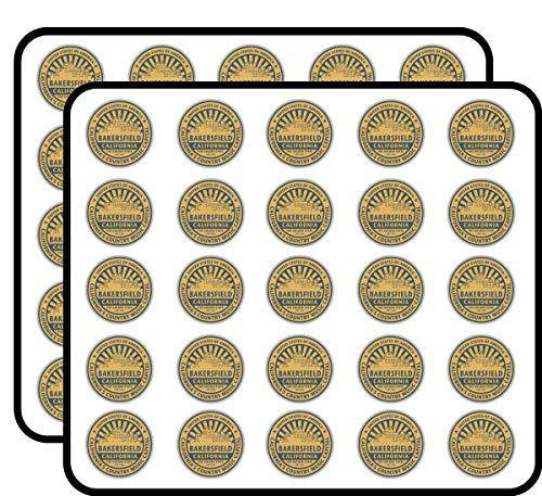 Bakersfield City USA Label Art Decor Sticker for Scrapbooking, Calendars, Arts, Kids DIY Crafts, Album, Bullet Journals 50 Pack]()