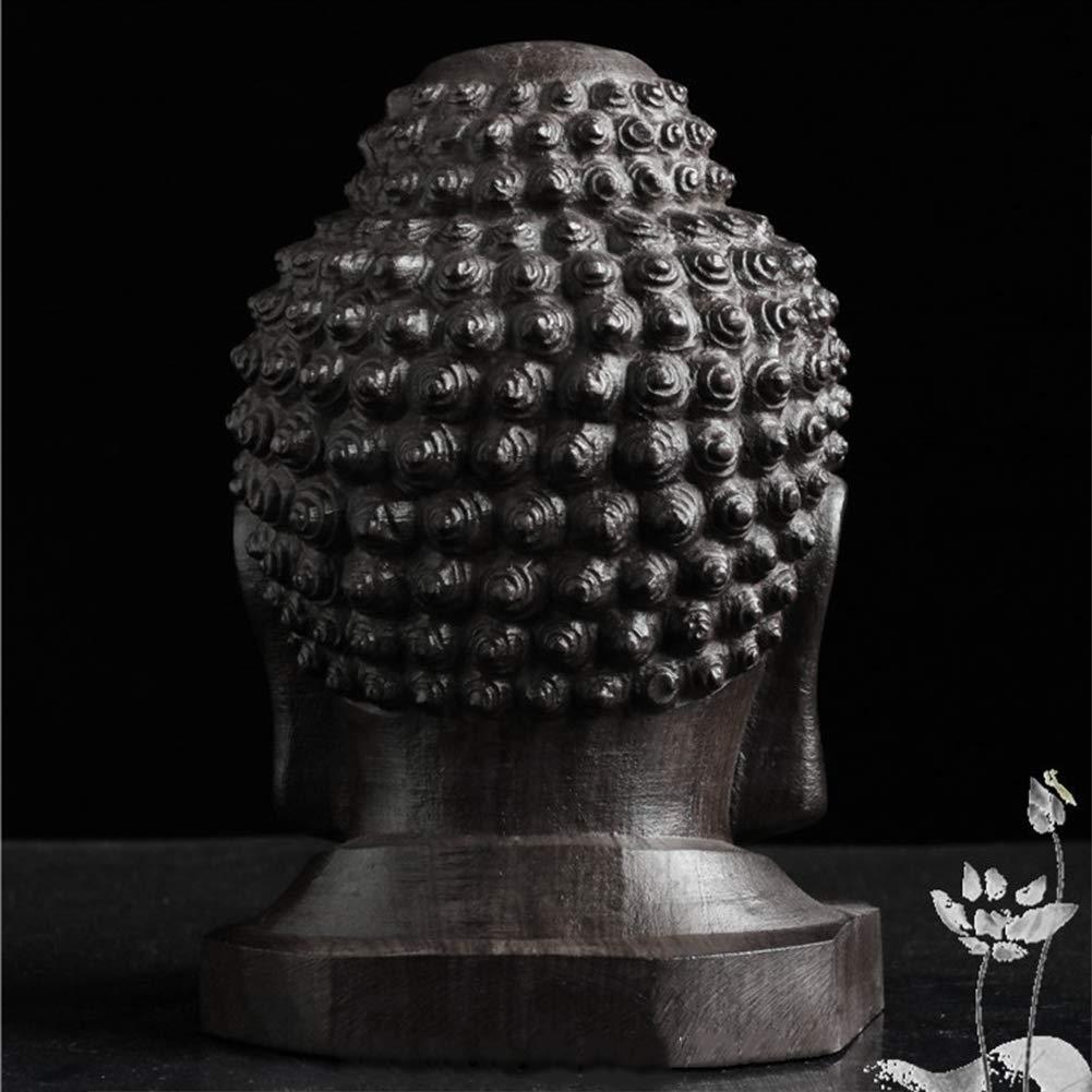 Estatuilla de Coleccionable Estatua Sakyamuni Tathagata Cabeza de Buda Escritorio Caoba Tallado Madera Artesanal Regalo Adorno Decoraci/ón Del Hogar Mini Hecho a Mano free size Como Imagen Mostrar