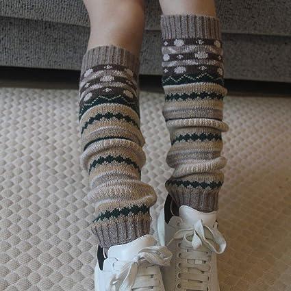 Frauen Stricken Winter Bein Wärmer Knie Hohe Socken Nette Farbe Strümpfe I4K1
