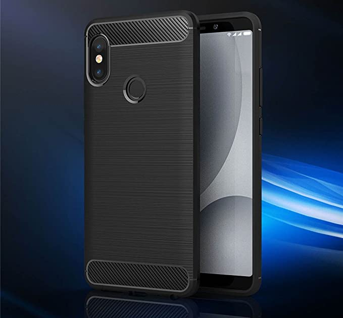 4a20192620d Bracevor XRDN5PCFBL Brushed Texture Flexible Shockproof TPU Back Case Cover  for Xiaomi Redmi Note 5 Pro