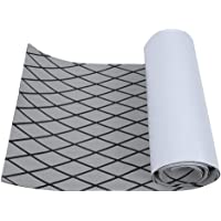 Alomejor Deck Pad EVA Anti-Slip Traction Pad Marine Boat Mat Grip Pad with Adhesive Tape Surf Paddleboard Pad