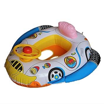 cadillaps asiento flotador para bebé 1 - 3 años en forma de coche de policía y delfín Blanco blanco Talla:65*60cm: Amazon.es: Deportes y aire libre
