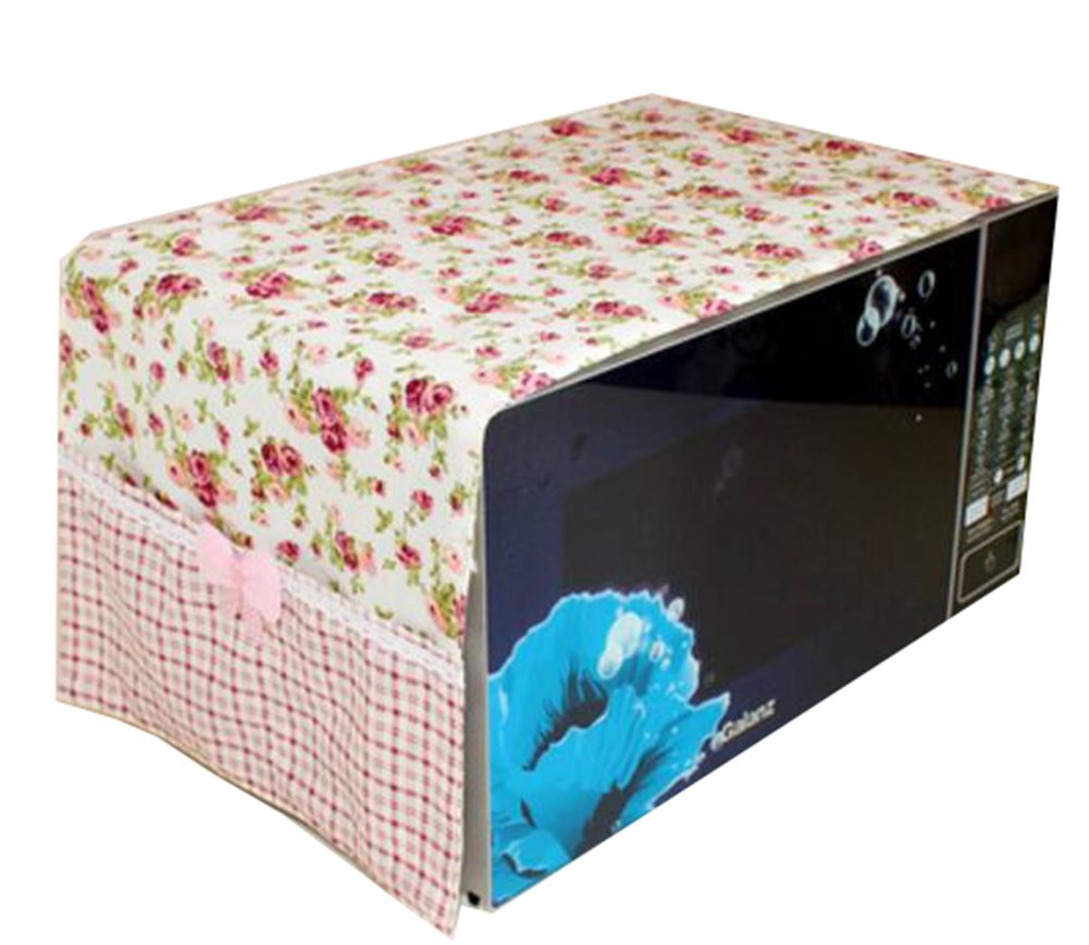 Country Style Microwave Oven Dustproof Cover Microwave Protector -Flower