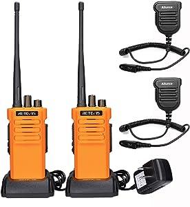 Retevis RT29 Two Way Radios Long Range Rechargeable,High Power 2 Way Radio,Adults Walkie Talkies UHF with IP67 Waterproof Mic VOX Emergency Alarm for Survive Adventure Offroad(2 Pack)