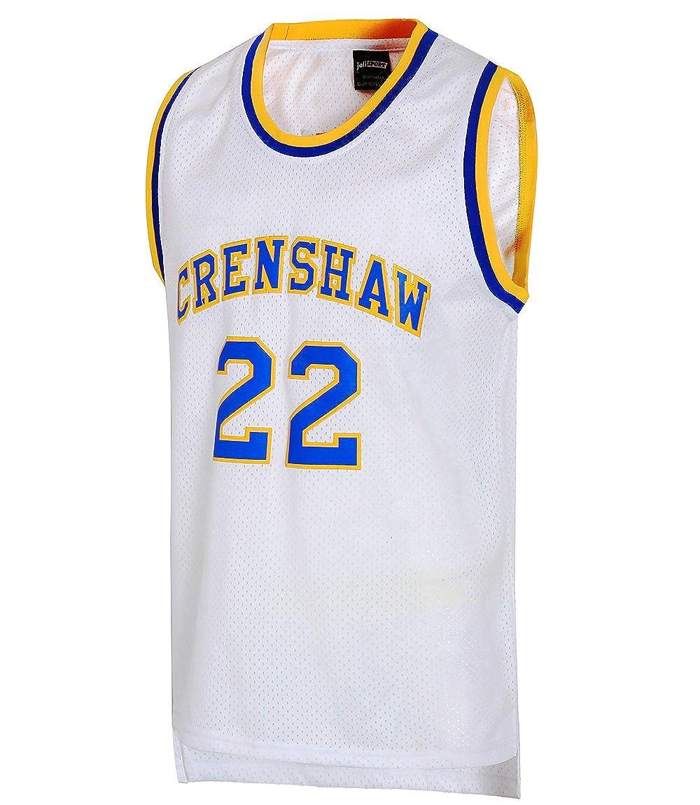 9d18cf2eb75b Amazon.com  JOLI SPORT Omar EPPS Quincy McCall 22 Crenshaw High School  Men s Basketball Jersey S-XXXL White  Clothing