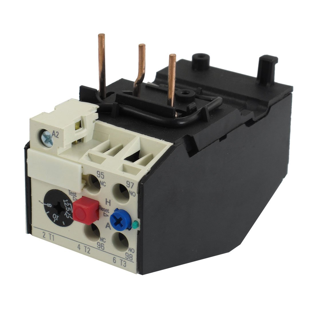 Uxcell JRS2-12.5 12.5A 3 Pole 8-12.5A Adjustable Motor Protective Thermal Overload Relays