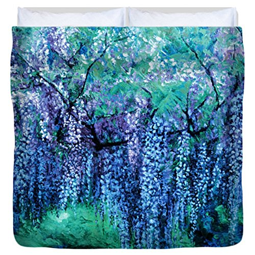 The Wind Whispers Wisteria, Ocean - Duvet Cover, King by Julie Turner Gallery: Home Decor, etc.