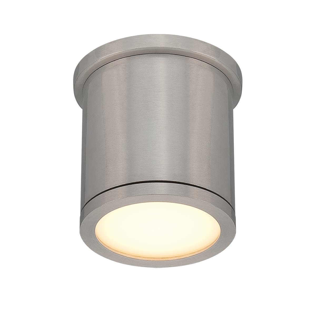 WAC Lighting FM-W2605-AL Tube 5'' Outdoor LED Flush Mount, Small, White/Brushed Aluminum