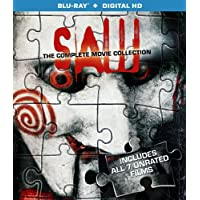 Deals on Saw 1 - 7 Movie Collection Blu Ray + Digital HD