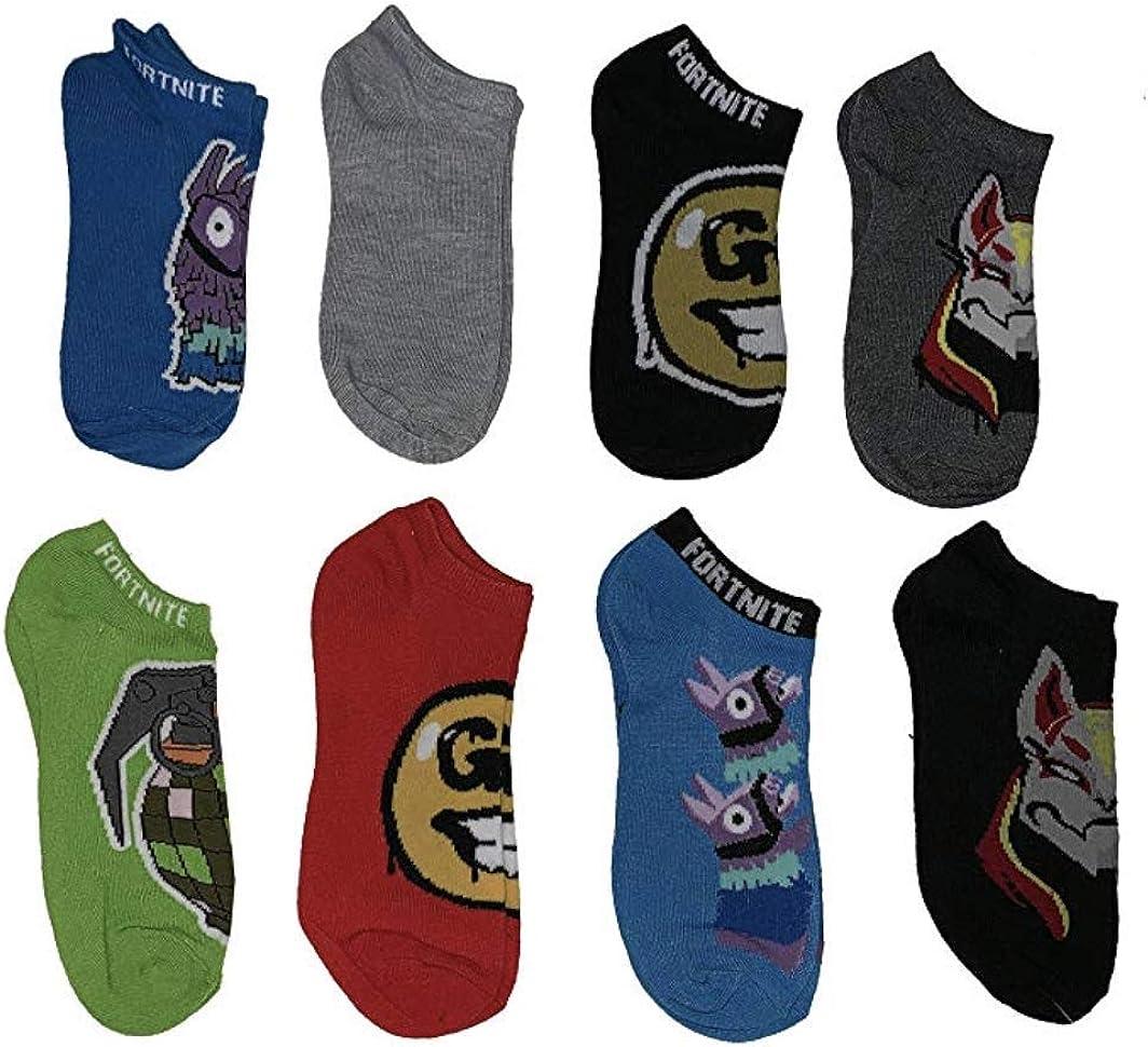 Fortnite Youth Boys No Show Socks Sz 9-2.5 Medium 6 Pair Multi Color