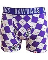 BAWBAGS ARGYLE BOXERS Purple