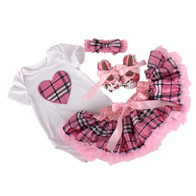 Amazon.com: Starkma 4pc/lot Newborn Infant Baby Girl Clothes ...
