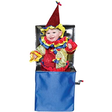 Amazon.com: Baby Jack In The Box Halloween Costume (Size: 6-12 ...