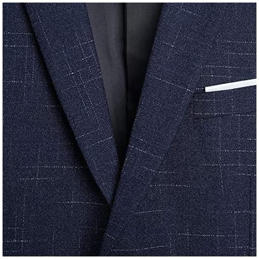 NSBS Mens 3 Piece Classic Tweed Herringbone Check Tan Slim Fit Vintage Suit