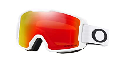 5b746f328b Image Unavailable. Image not available for. Color  Oakley Line Miner Youth Snowmobile  Goggles - Matte White Prizm Torch Iridium Small