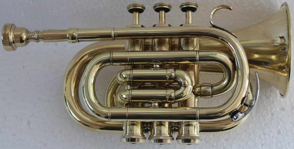 SC EXPORTS Pocket Trumpet with Carrying Case by SCEXPORTS
