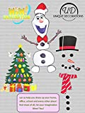 Christmas Decoration. Snowman Magnet Set. Animated Figure. Perfect for House Decorations Fridge, Metal Door, garage. Give Gift. Ornament Décor. If You Like Elf on The Shelf You'll Love This Too.