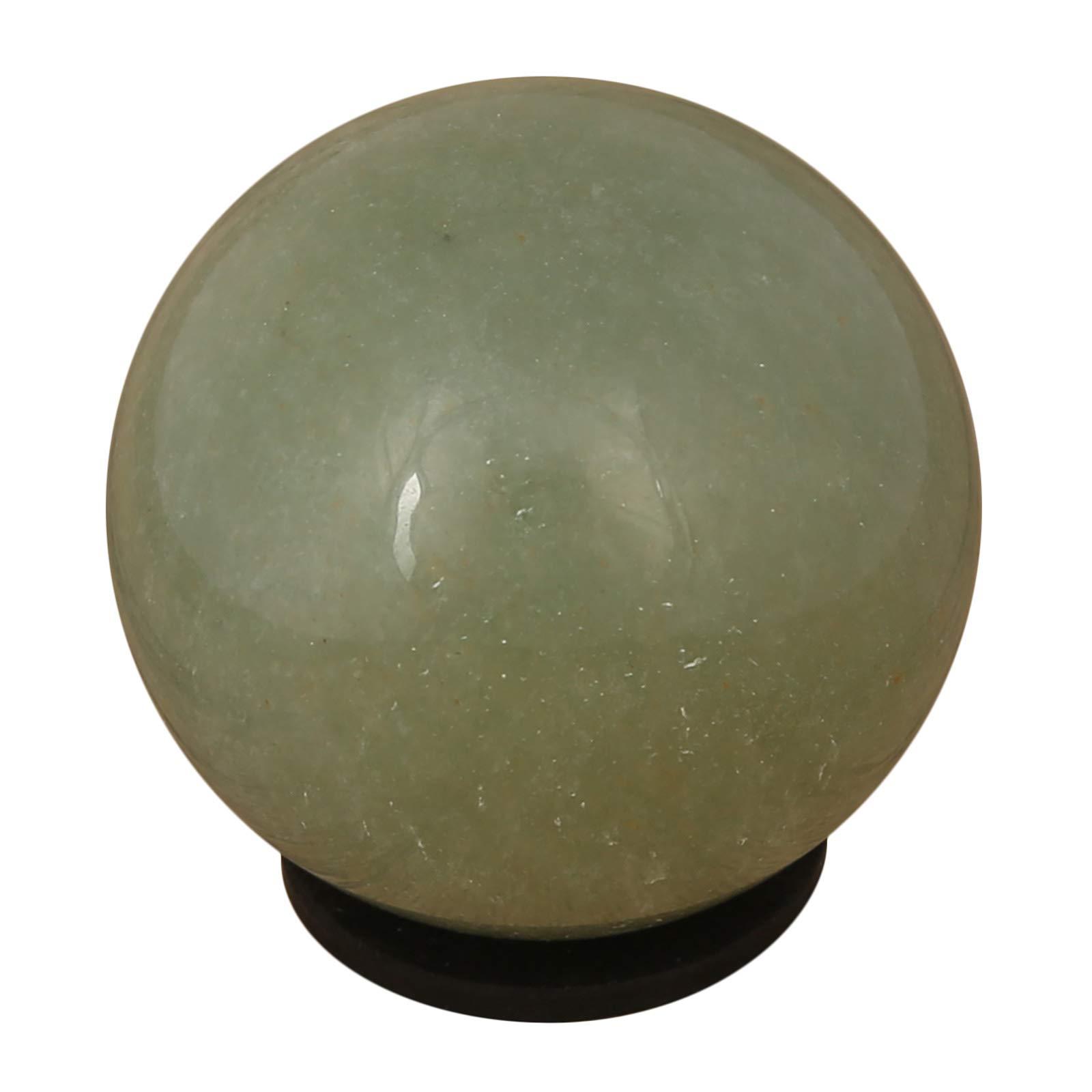 CRAFTSTRIBE Natural Green Aventurine Sphere Ball Crystal Gemstone Healing Reiki Stone Gift