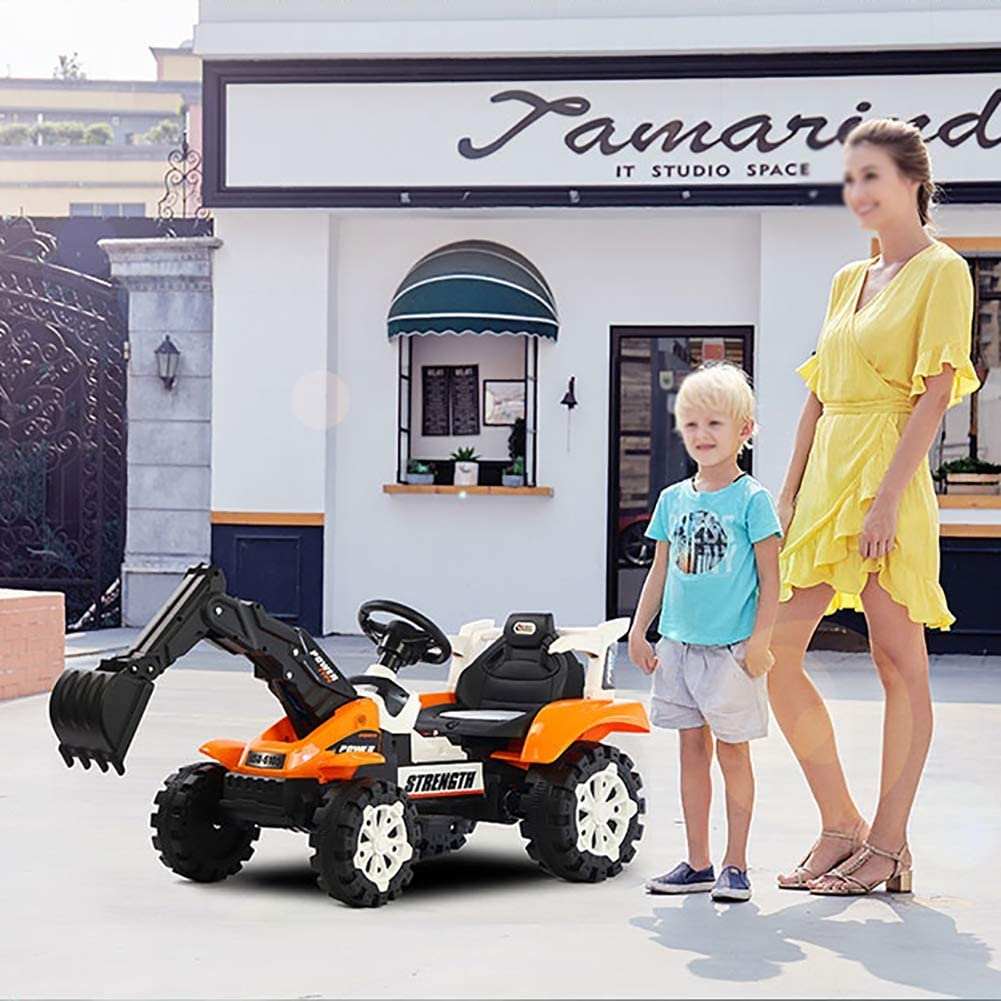TTGE Elektroauto f/ür Kinder Kann Reiten Bagger Elektrische Automatische Arm Graben 7V Lithiumbatterie Batterielaufzeit f/ür 2 Stunden