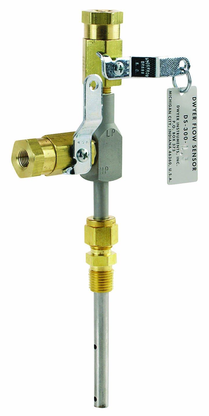 Dwyer DS-300 Series In-Line Flow Sensor, 2'' Probe Length