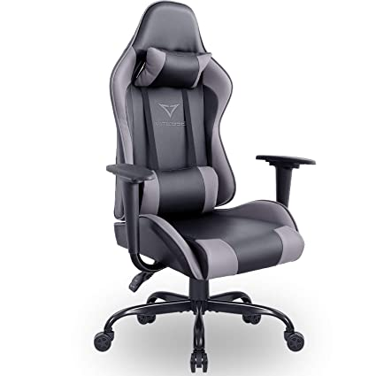 Vitesse Gaming Chair (Sillas Gaming) Ergonomic Computer Desk Chair High Back Racing Style Comfortable Chair Swivel Executive Leather Chair with Lumbar ...