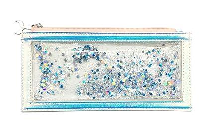 59b50ed3c120 Amazon.com: Bewaltz Floating Glitter Holographic Pencil Pouch ...