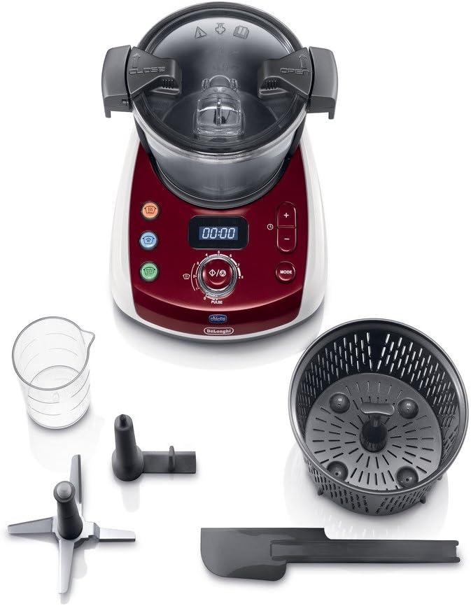 Delonghi - Procesador de alimentos para el bebe, 800 W, bol de 1,5 l, acero inoxidable: Amazon.es: Bebé