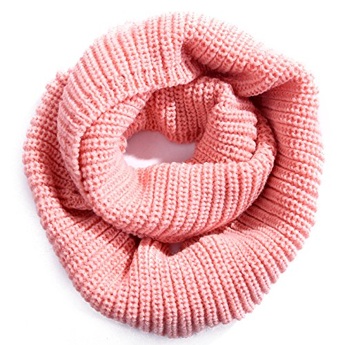 HDE Womens Knit Warm Winter Infinity Circle Scarf Shawl (Pink)