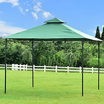 Tangkula 2 Tier 10 x10 Gazebo Tent Patio Outdoor Party Canopy Tent