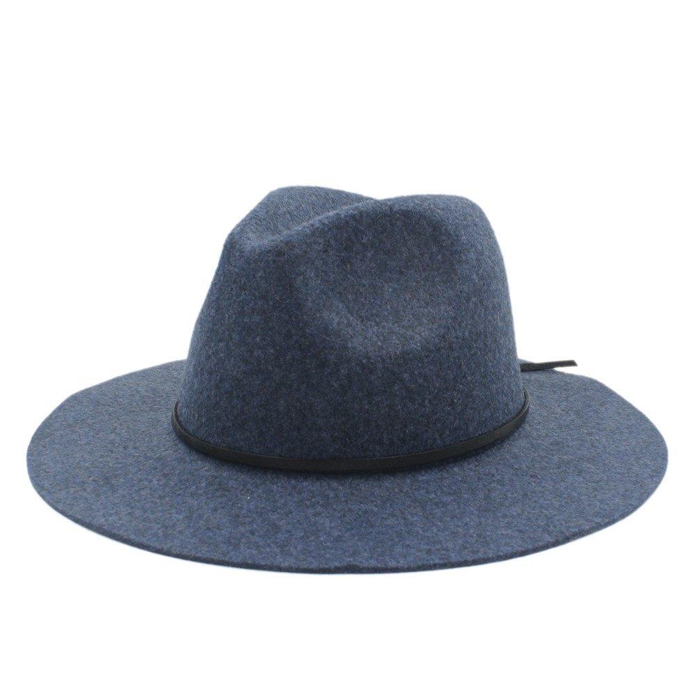 Battle Men Men's Fedora Hat Wide Brim Church Caps Jazz Hat ( Color : 4 , Size : 56-59cm )