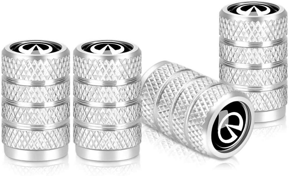Silver Baoxijie 4Pcs Metal Car Wheel Tire Valve Stem Caps for Mercedes Benz C E S M CLS CLK GLK GL A B AMG GLS GLE Logo Styling Decoration Accessories