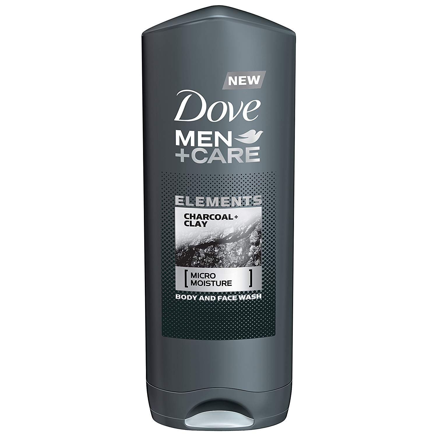 Dove Men + Care Elements Body Wash, Charcoal and Clay, 13.5 Ounce(Pack of 3)