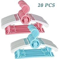 TIMESETL perchas de plástico para bebés con ganchos