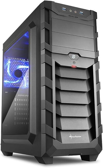 Sharkoon SGC1 WINDOW - Caja de Ordenador, PC Gaming, Semitorre ATX, Negro/Azul: Sharkoon: Amazon.es: Informática